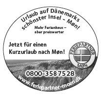 Anzeige Mön 2012, Feriepartner, 2012, 40mm 1-spaltig
