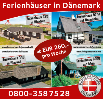 Printwerbung Ferienhaus Dänemark